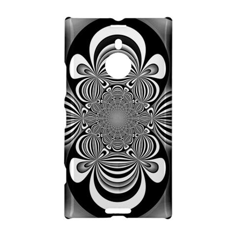 Black And White Ornamental Flower Nokia Lumia 1520