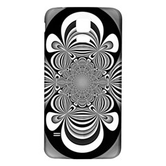 Black And White Ornamental Flower Samsung Galaxy S5 Back Case (White)