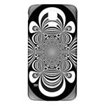 Black And White Ornamental Flower Samsung Galaxy S5 Back Case (White) Front