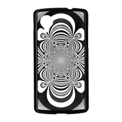 Black And White Ornamental Flower Nexus 5 Case (Black)