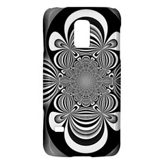 Black And White Ornamental Flower Galaxy S5 Mini