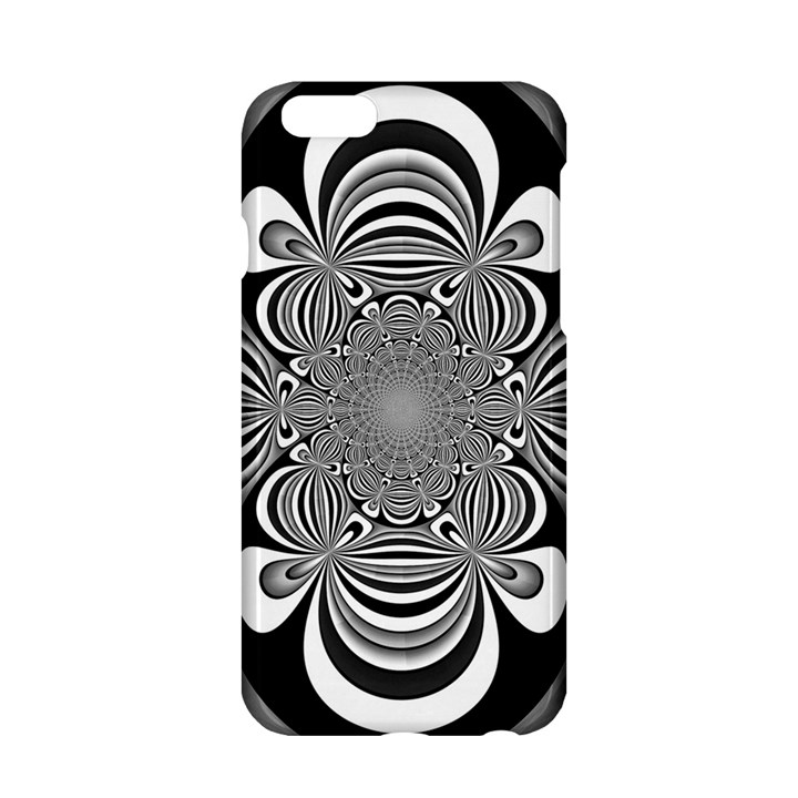 Black And White Ornamental Flower Apple iPhone 6/6S Hardshell Case