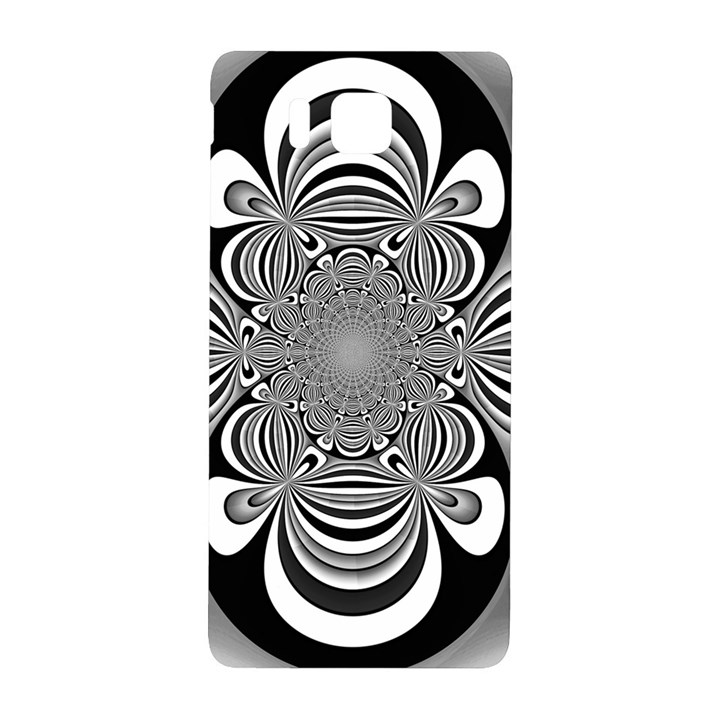 Black And White Ornamental Flower Samsung Galaxy Alpha Hardshell Back Case