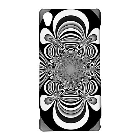 Black And White Ornamental Flower Sony Xperia Z3
