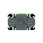 Black And White Ornamental Flower Cosmetic Bag (XS) Front