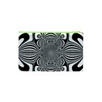 Black And White Ornamental Flower Cosmetic Bag (XS) Back