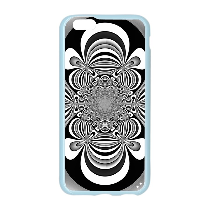 Black And White Ornamental Flower Apple Seamless iPhone 6/6S Case (Color)
