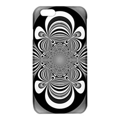 Black And White Ornamental Flower iPhone 6/6S TPU Case