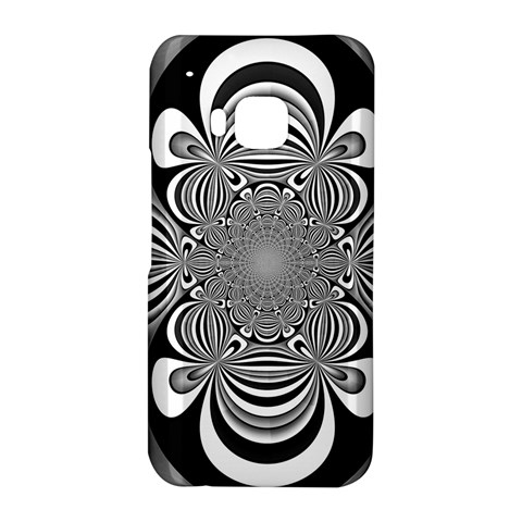 Black And White Ornamental Flower HTC One M9 Hardshell Case