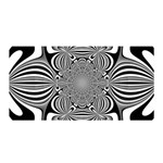 Black And White Ornamental Flower Satin Wrap Front