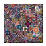 Ornamental Mosaic Background Tile Coasters Front