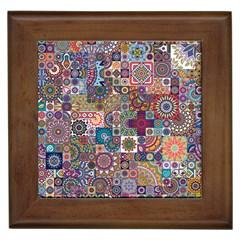 Ornamental Mosaic Background Framed Tiles