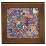 Ornamental Mosaic Background Framed Tiles Front