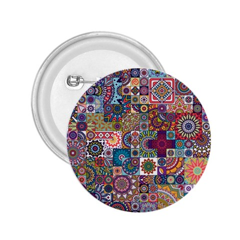 Ornamental Mosaic Background 2.25  Buttons