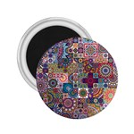 Ornamental Mosaic Background 2.25  Magnets Front