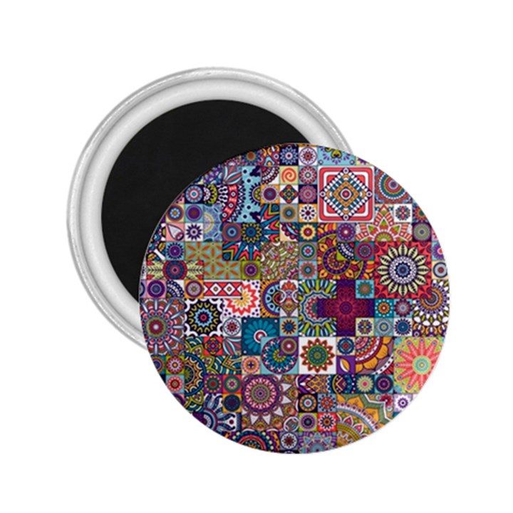 Ornamental Mosaic Background 2.25  Magnets