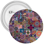 Ornamental Mosaic Background 3  Buttons Front