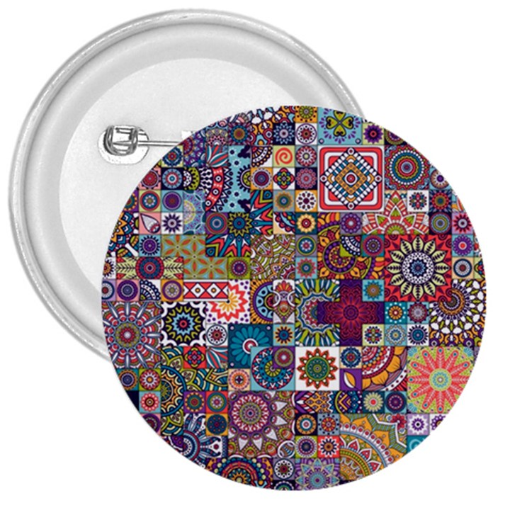 Ornamental Mosaic Background 3  Buttons