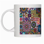 Ornamental Mosaic Background White Mugs Left