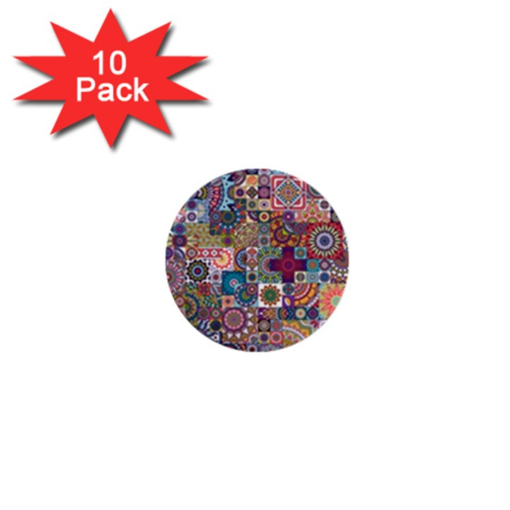 Ornamental Mosaic Background 1  Mini Buttons (10 pack)