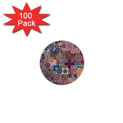 Ornamental Mosaic Background 1  Mini Buttons (100 pack)