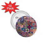 Ornamental Mosaic Background 1.75  Buttons (10 pack) Front