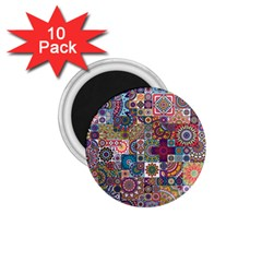 Ornamental Mosaic Background 1 75  Magnets (10 Pack)