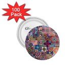 Ornamental Mosaic Background 1.75  Buttons (100 pack)  Front
