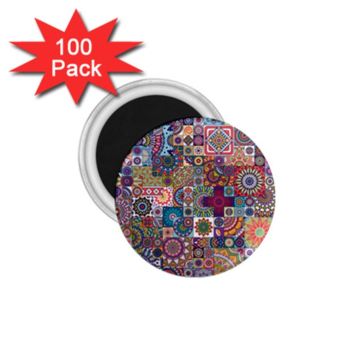 Ornamental Mosaic Background 1.75  Magnets (100 pack)