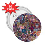 Ornamental Mosaic Background 2.25  Buttons (10 pack)  Front