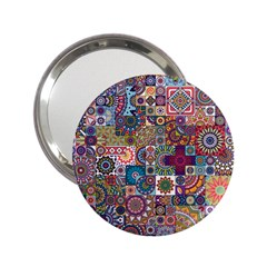 Ornamental Mosaic Background 2 25  Handbag Mirrors