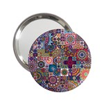 Ornamental Mosaic Background 2.25  Handbag Mirrors Front