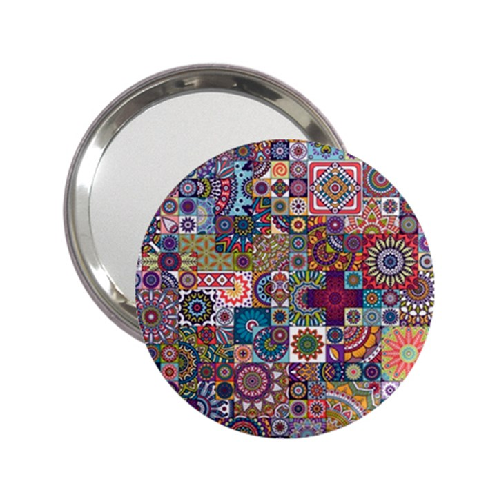 Ornamental Mosaic Background 2.25  Handbag Mirrors