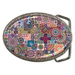 Ornamental Mosaic Background Belt Buckles Front