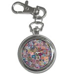 Ornamental Mosaic Background Key Chain Watches Front