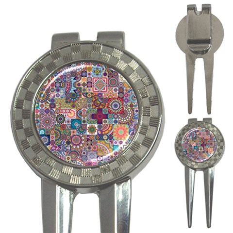 Ornamental Mosaic Background 3-in-1 Golf Divots