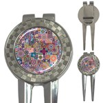 Ornamental Mosaic Background 3-in-1 Golf Divots Front