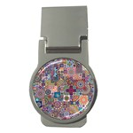 Ornamental Mosaic Background Money Clips (Round)  Front