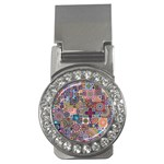 Ornamental Mosaic Background Money Clips (CZ)  Front