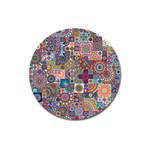 Ornamental Mosaic Background Magnet 3  (Round) Front