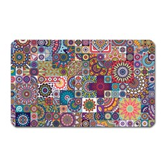 Ornamental Mosaic Background Magnet (rectangular)