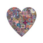 Ornamental Mosaic Background Heart Magnet Front