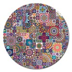 Ornamental Mosaic Background Magnet 5  (Round) Front