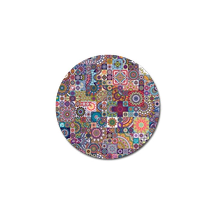 Ornamental Mosaic Background Golf Ball Marker