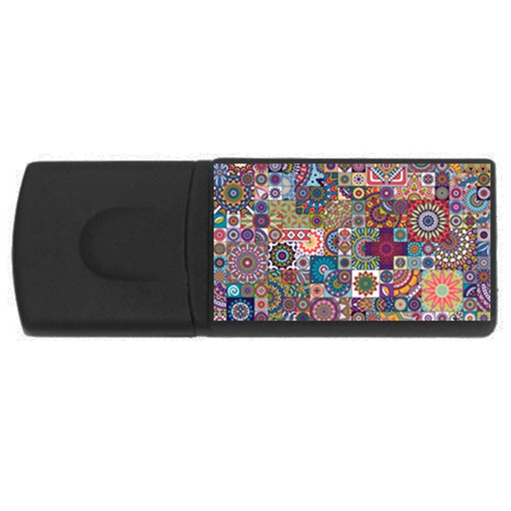 Ornamental Mosaic Background USB Flash Drive Rectangular (2 GB)