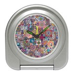 Ornamental Mosaic Background Travel Alarm Clocks Front