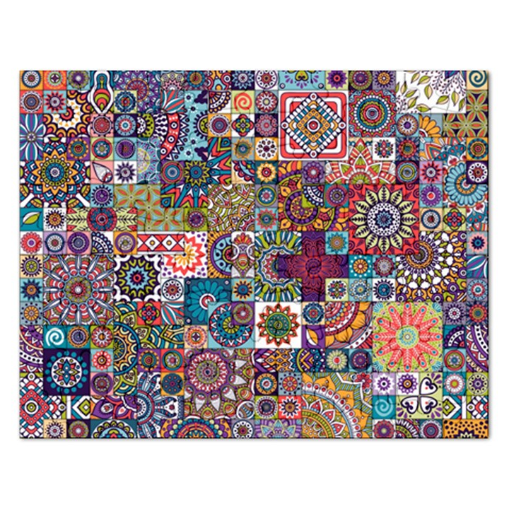 Ornamental Mosaic Background Rectangular Jigsaw Puzzl