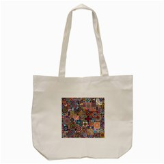 Ornamental Mosaic Background Tote Bag (Cream)