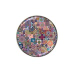 Ornamental Mosaic Background Hat Clip Ball Marker (10 pack) Front