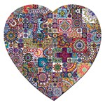 Ornamental Mosaic Background Jigsaw Puzzle (Heart) Front